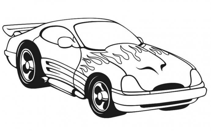 Race Car Coloring Pages Printable - Sports Car Racing