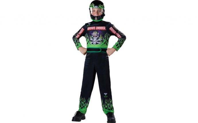 Buy Monster Jam Kids Grave Digger Costume