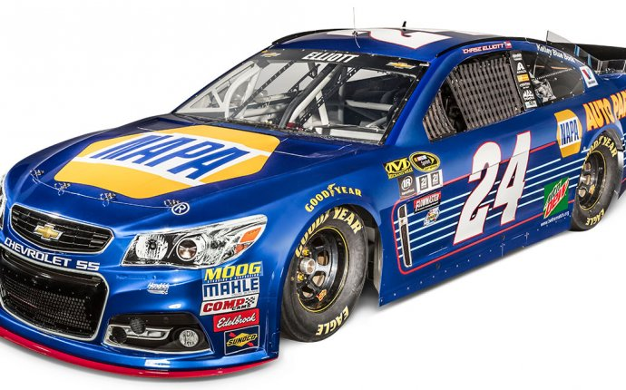 Elliott, Hendrick unveil 2016 No. 24 NAPA AUTO PARTS Chevy