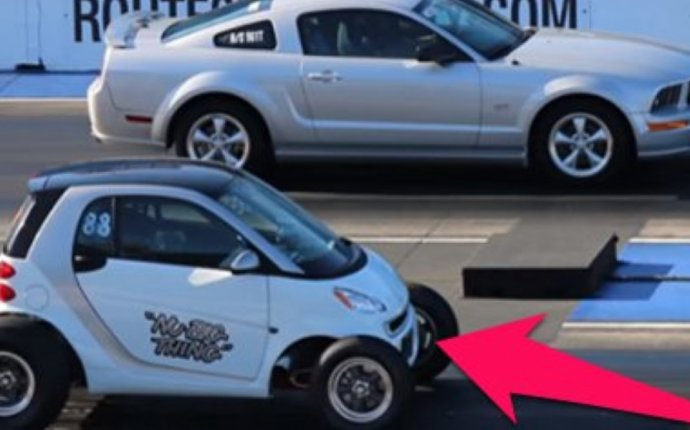 Smart Car Totally DESTROYS A Mustang In A Drag Race And We Still
