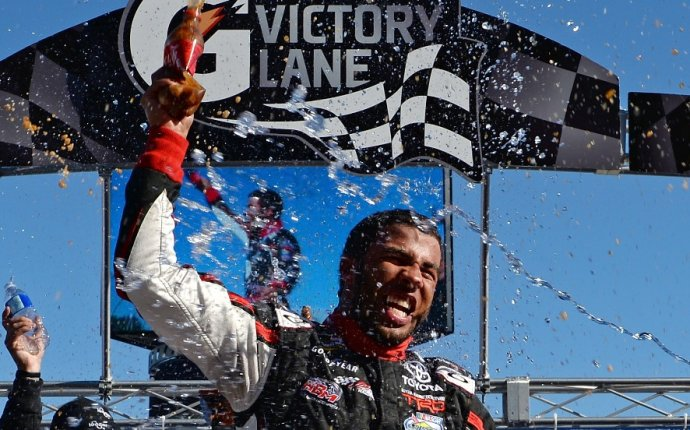 Wallace becomes first African-American to win NASCAR race in 50