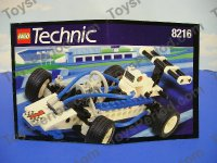 LEGO 8216 Turbo 1 Technic Race Car Complete Retired Set