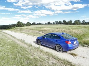 The bodywork of the 2016 Subaru WRX is based on the Impreza sedan